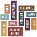 Tim Holtz Sizzix Thinlits Dies 13/Pkg - Celebration Block Words