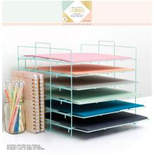 Crate Paper Desktop Storage Paper Rack