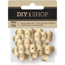 American Crafts DIY Shop 4 Sequins - Gold Foil