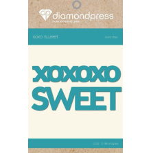 Diamond Press Word Dies - Sweet XOXO UTGÅENDE