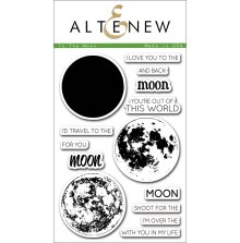 Altenew Layering Clear Stamps 4X6 14/Pkg - To the Moon
