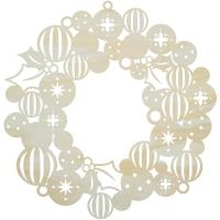 Kaisercraft Lucky Dip Wood Flourish - Bauble Wreath