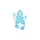 Tonic Studios Christmas Rococo Petite Die – Happy Penguin 1380E