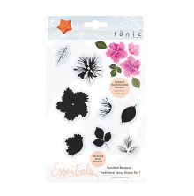 Tonic Studios Bunched Bouquet Stamp Set 1 – Traditional Spray 1360E