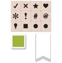 Hero Arts Mounted Stamps Mini Tub - Planner Dingbats