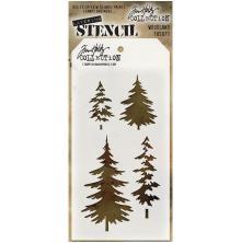 Tim Holtz Layered Stencil 4.125X8.5 - Woodland