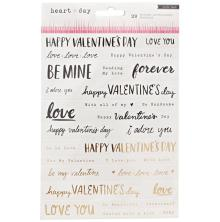 Crate Paper Phrase Stickers 7.5X5.5 - Heart Day
