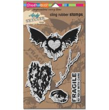 Stampendous Andy Skinner Cling Stamps 9X5.25 - Handle With Care