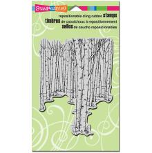 Stampendous Cling Stamp 7.75X4.5 - Birch Forest