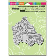 Stampendous Cling Stamp 6.5X4.5 - Succulent Truck