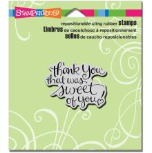Stampendous Cling Stamp 4.75X4.5 - Sweet Of You