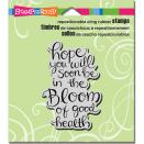 Stampendous Cling Stamp 4.75X4.5 - In The Bloom