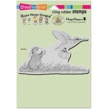 Stampendous House Mouse Cling Stamp 6.5X4.5 - Carrier Hummer