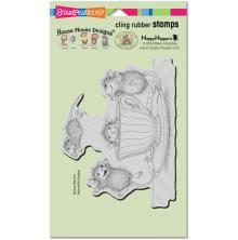 Stampendous House Mouse Cling Stamp 7.75X4.5 - Coffee Crazy