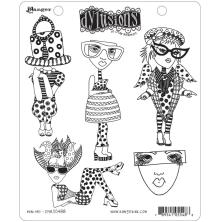 Dylusions Cling Stamp 8.5X7 - Mini Me
