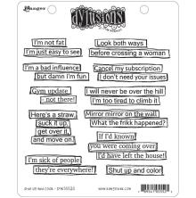 Dylusions Cling Stamp 8.5X7 - Shut Up And Color