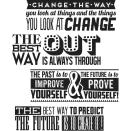 Tim Holtz Cling Stamps 7X8.5 - Motivation 2