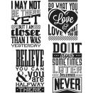Tim Holtz Cling Stamps 7X8.5 - Motivation 3