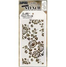 Tim Holtz Layered Stencil 4.125X8.5 - Roses