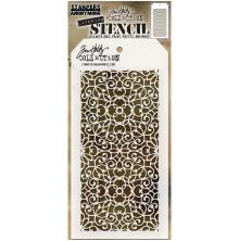 Tim Holtz Layered Stencil 4.125X8.5 - Ornate