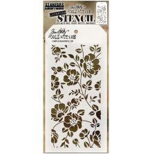 Tim Holtz Layered Stencil 4.125X8.5 - Floral