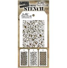 Tim Holtz Mini Layered Stencil Set 3/Pkg - Set 24