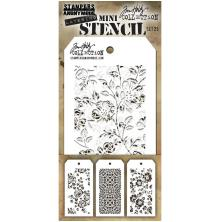 Tim Holtz Mini Layered Stencil Set 3/Pkg - Set 25