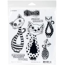 Dylusions Cling Stamp 8.5X7 - Puddy Cat