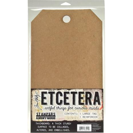 Tim Holtz Etcetera Large Tag 8.25X14.25