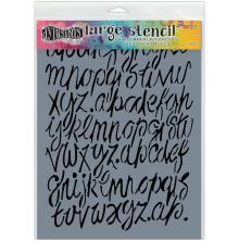 Dylusions Stencils 9X12 - Modern Script