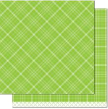 Lawn Fawn Perfectly Plain Rainbow Cardstock 12X12 - Sour Apple