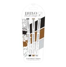 Tonic Studios Nuvo Brush Script Pens 3/Pkg – Essential Tones 110N