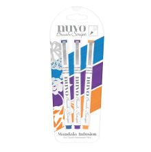 Tonic Studios Nuvo Brush Script Pens 3/Pkg – Mandala Infusion 113N