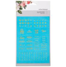 Webster´s Pages Color Crush Planner Foil Embossed Stickers - Teal UTGÅENDEWords