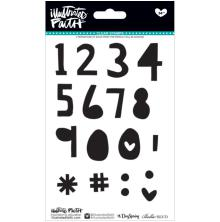 Bella Blvd Illustrated Faith Clear Stamps 4X6 - Numbers & Extras UTGÅENDE