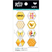 Bella Blvd Illustrated Faith Hexies Epoxy Stickers - Bananas For You UTGÅENDE