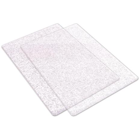 Sizzix Big Shot Cutting Pads Standard 1 Pair - Clear W/Silver Glitter