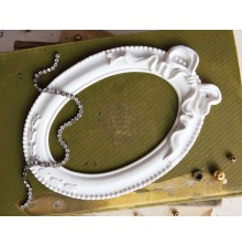 Prima Memory Hardware Resin Frames - Papillon Blanc Oval