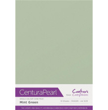 Crafters Companion Centura Pearl Card Pack A4 10Pkg 300gr - Mint