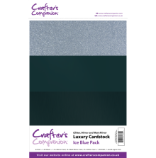 Crafters Companion Luxury Cardstock Pack A4 30Pkg 250gr - Ice Blue
