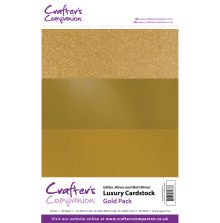 Crafters Companion Luxury Cardstock Pack A4 30Pkg 250gr - Gold
