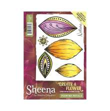 Sheena Douglass Create a Flower A6 Rubber Stamp - Pointed Petals