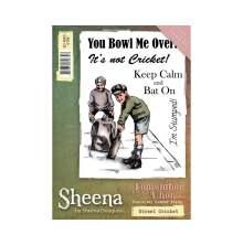 Sheena Douglass Remember When A6 Rubber Stamp - Street Cricket