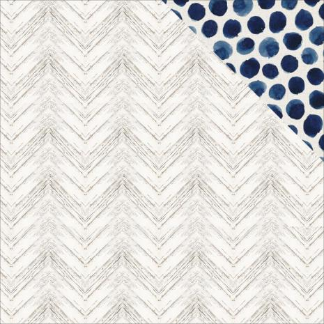 Kaisercraft Indigo Skies Double-Sided Cardstock 12X12 - Washed Out