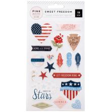 Pink Paislee Puffy Stickers 19/Pkg - Sweet Freedom