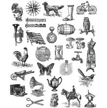 Tim Holtz Cling Stamps 7X8.5 - Tiny Things 2