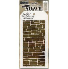 Tim Holtz Layered Stencil 4.125X8.5 - Slate
