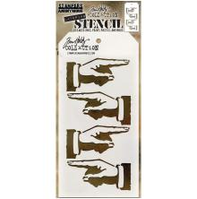 Tim Holtz Layered Stencil 4.125X8.5 - Direction