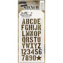 Tim Holtz Layered Stencil 4.125X8.5 - Crate