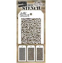 Tim Holtz Mini Layered Stencil Set 3/Pkg - Set 28